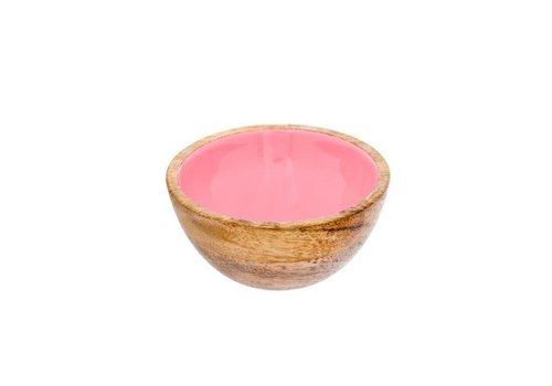 INDABA PETIT BOL BOIS -ROSE