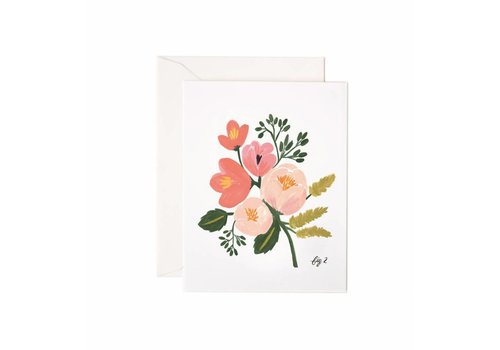 RIFFLE PAPER CO. CARTE FLEURIE ROSE