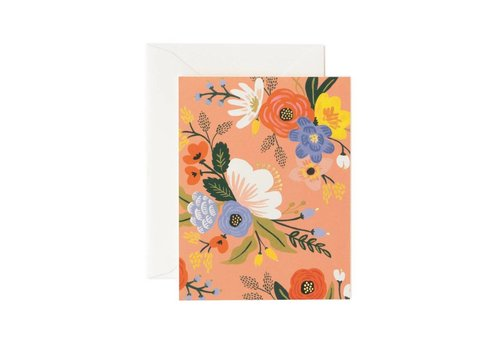 RIFFLE PAPER CO. CARTE LIVELY FLORAL ROSE
