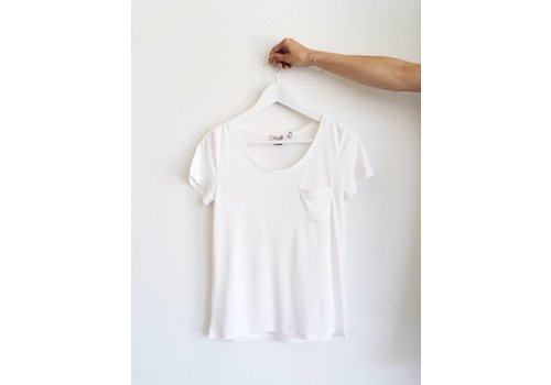 SOAKED IN LUXURY T-SHIRT COLUMBINE IVOIRE