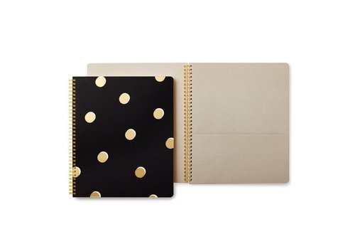 KATE SPADE LARGE CAHIER SPIRALES - SCATTER DOTS