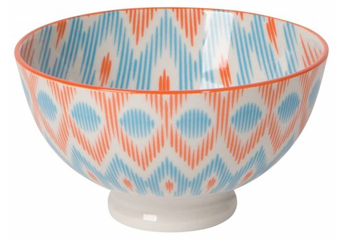 DANICA BOL STAMPED 4 POUCES- ORANGE IKAT
