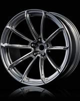 MST MXSPD102078FS Flat silver GTR wheel (+9) (4) by MST 102078FS