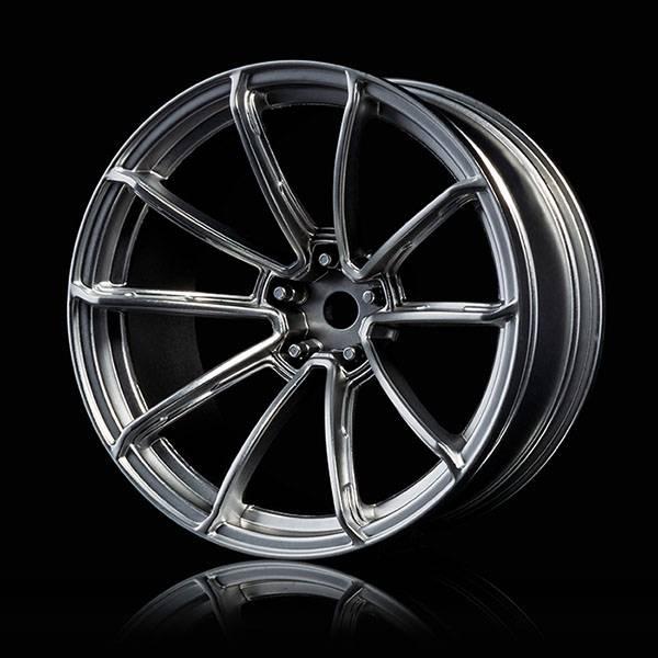 MST MXSPD102078FS Flat silver GTR wheel (+9) (4) by MST102078FS
