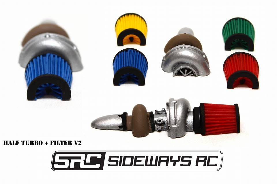 SRC SRCTRB HALF TURBO WITH CONE FILTER BY SRC