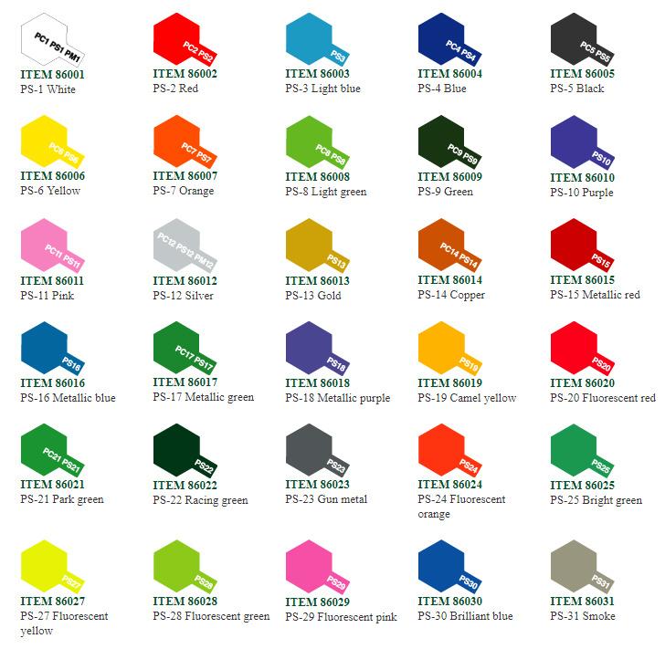 Tamiya Tamiya Polycarbonate PS Spray Paint