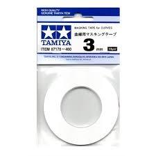 Tamiya TAM87178, Masking Tape for Curves 3mm by Tamiya
