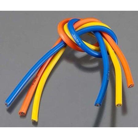 TQ Power TQWC1104 1104 10 Gauge Wire 1' BL 3-Wire Kit Blu/Ylw/Org