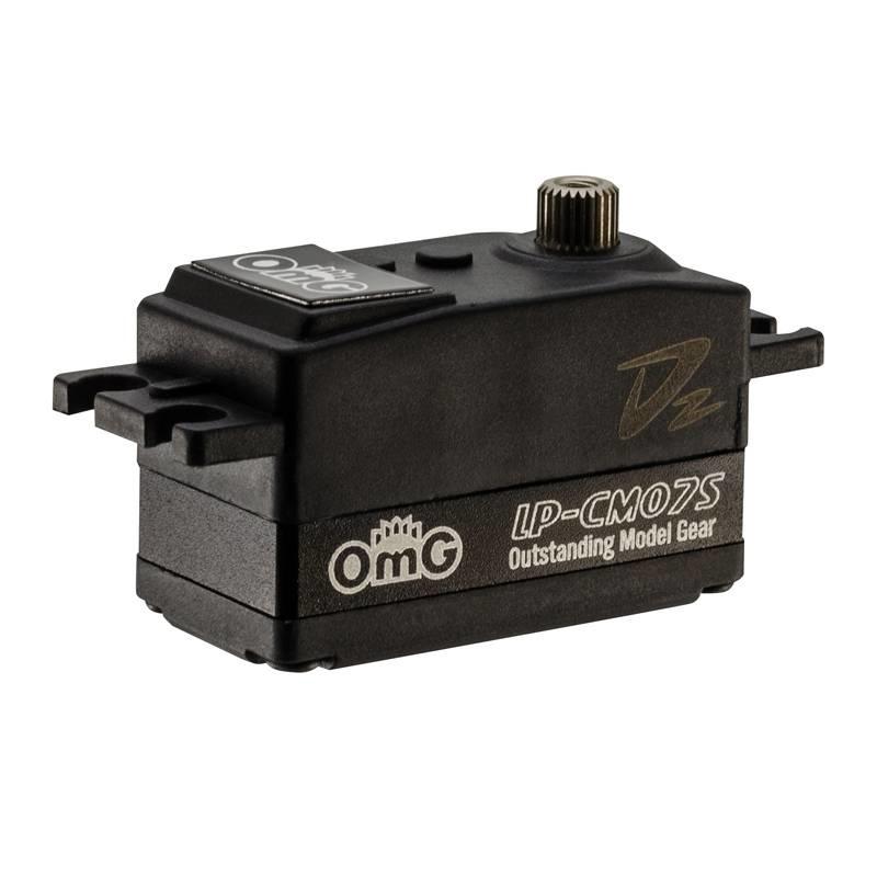 OMG OMGD2-LP-CM07S/BK 7kgf.cm Middle Metal Case High Speed  Coreless Low Profile Digital Servo by OMG