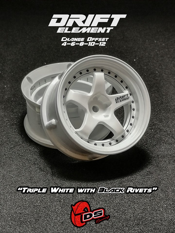 DS Racing *Pre-Order*  Drift Element Adjustable Offset Wheels (2pcs.) by DS Racing