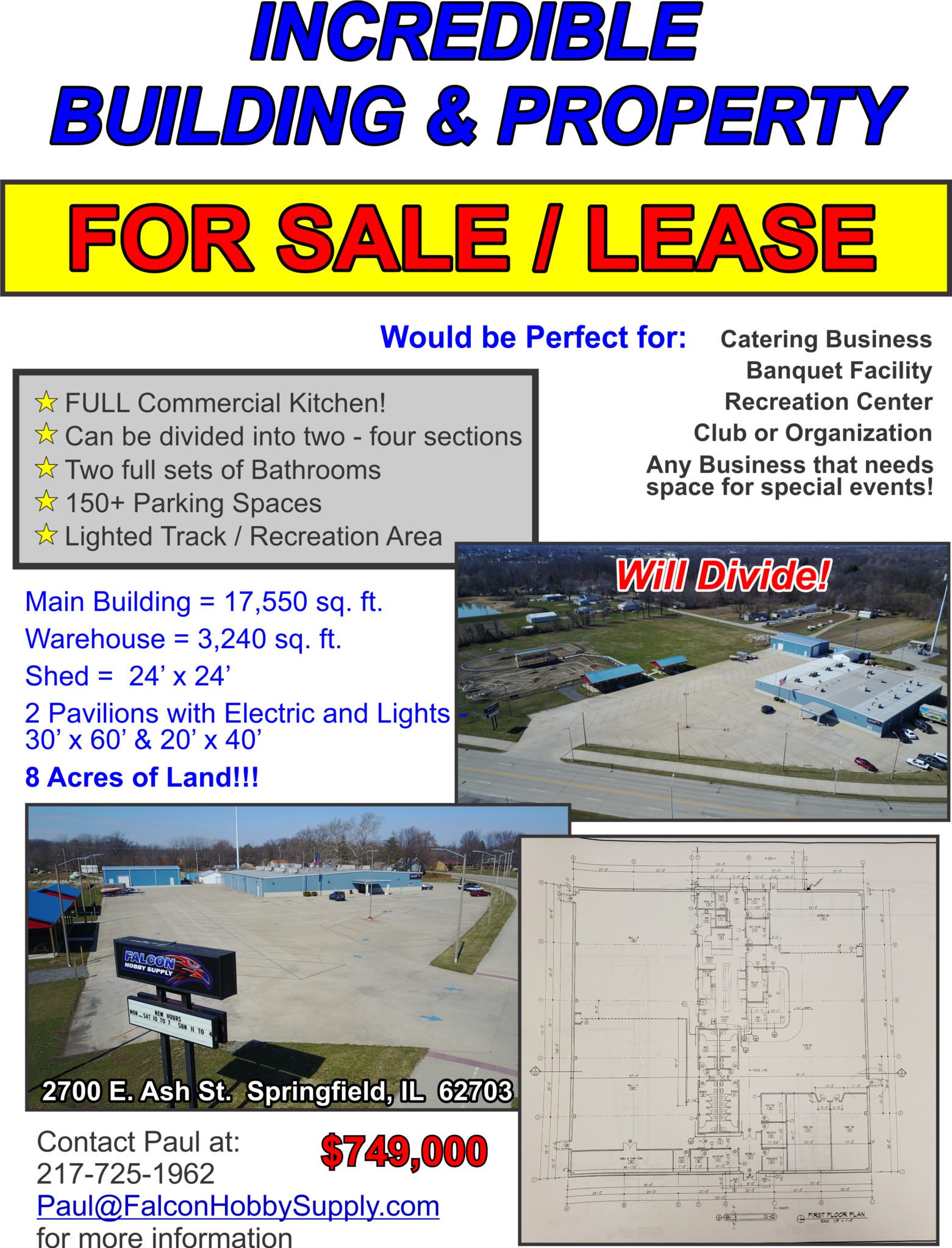 Awesome Building for Sale or Lease