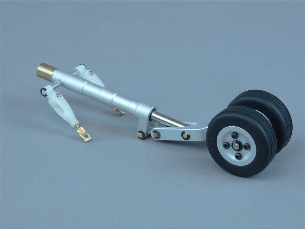 JP Hobby JPHST1004ND40 10mm Dual Nose Wheel Landing Gear Strut with 40mm Wheel/4mm axle JP Hobby