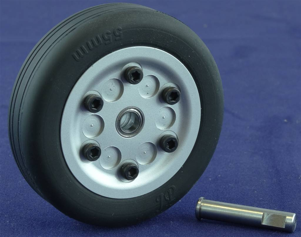 JP Hobby JPHWH0555 55mm Wheel with bearings and 5mm axle JP Hobby