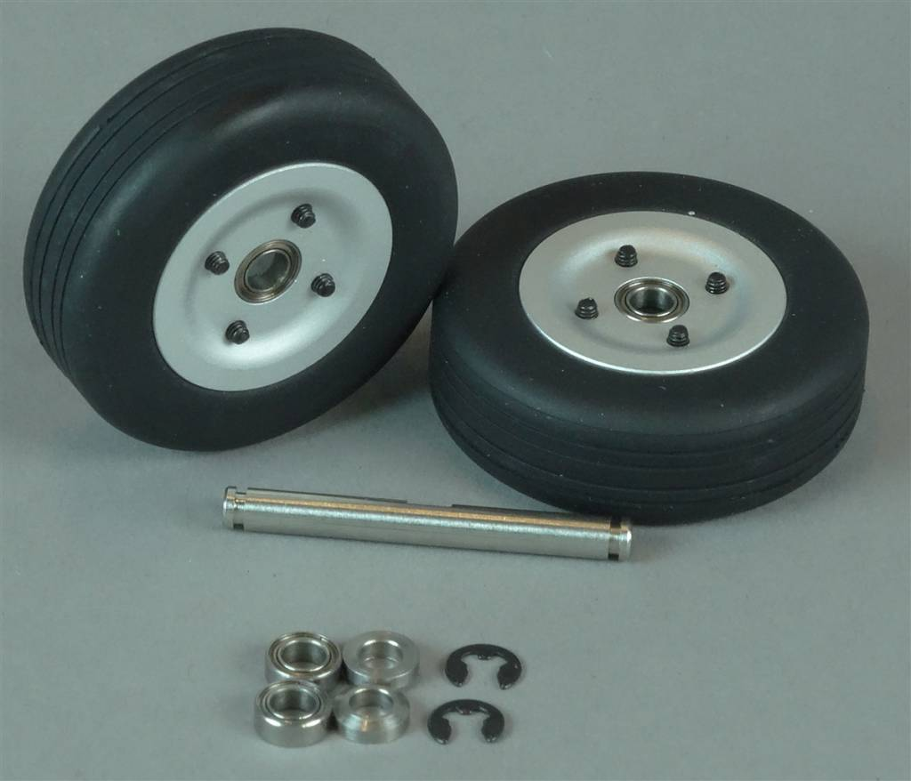 JP Hobby JPHWH0440D 40mm Dual Nose Wheel with 4mm Axle JP Hobby