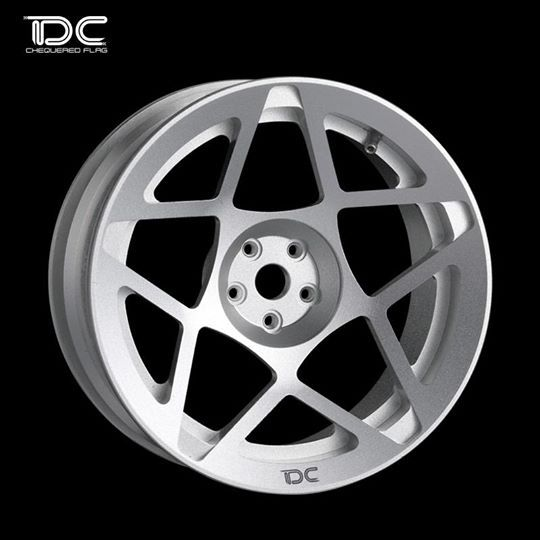 Team DC DC-50910 3SDM Cast 0.08 Aluminum Drift Wheel Offset +6 For 1:10 Drift Car (4pcs) Silver by Team DC