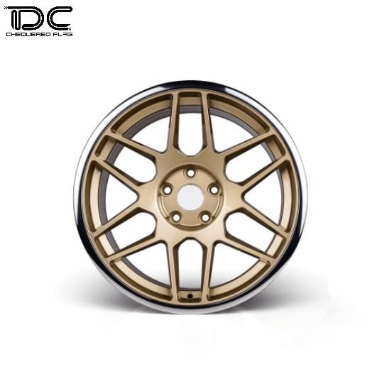 Team DC DC-9038 Aluminum Drift Wheel Offset +6 Gold Hub For EP 1:10 RC Drift Cars (4PCS) by Team DC