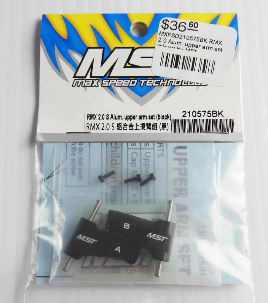 MST MXSPD210575BK RMX 2.0 S Alum. upper arm set (black) 210575BK by MST