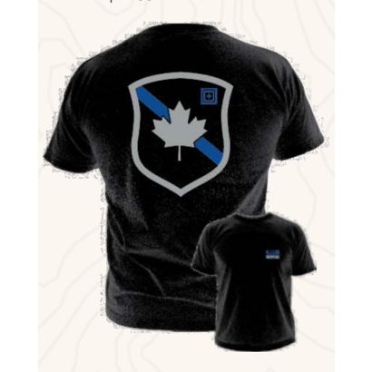 5.11 Tactical Thin Blue Line Protect Canada - Black