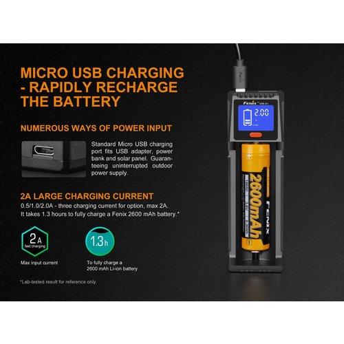 Fenix Battery Charger Single Channel Smart Mini USB