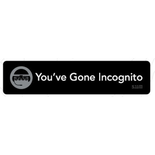 5.11 Tactical You've Gone Incognito Patch (Limited)