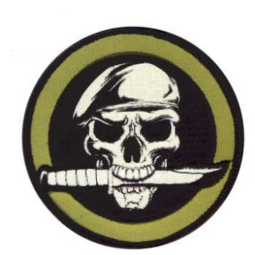 Rothco Skull And Knife Morale Patch