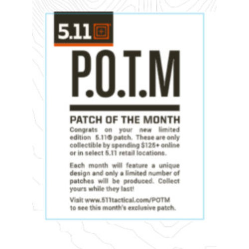 5.11 Tactical December Patch Of The Month (Limited)