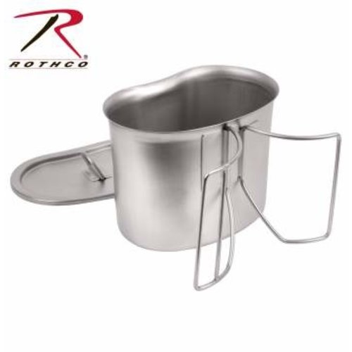 Rothco Canteen Cup W/Lid Stainless Steel