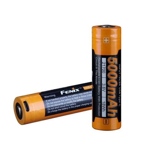Fenix Battery Rechargeable W/Type C USB Port (21700) 5000 Mah