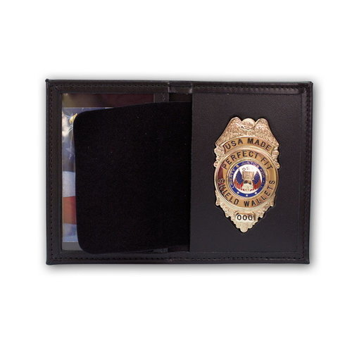 Perfect Fit Dress Leather Badge And ID Case