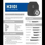 PRE Labs Inc. H3101 Level III + SA Rifle Plate - Shooters Cut