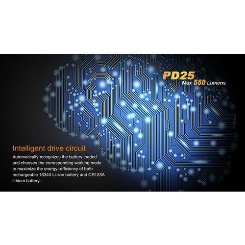 Fenix Flashlight PD25 LED 1 X 123A Flashlight