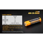Fenix Battery Rechargeable  W/USB Port 18650 3500 Mah
