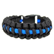 Team Awesome Paracord Bracelet Thin Blue Line - One Size