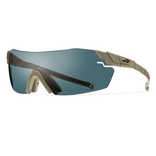 Smith Optics PivLock Echo Ballistic Eyewear, Tan Frame w/ Gray, Clear, Ignitor