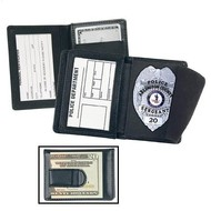 STRONG LEATHER CO Side Open Badge Wallet with Credit Card Slots