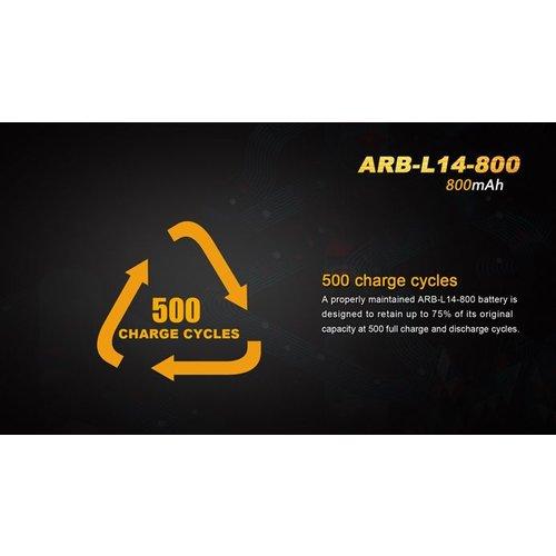 Fenix Battery Rechargeable 14500 3.6V 800 mAh