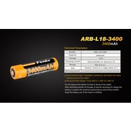 Fenix Battery Rechargeable 18650 3.6V 3400 Mah