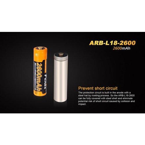 Fenix Battery Rechargeable 18650  3.6V 2600 Mah