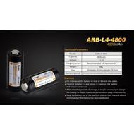 Fenix ARB-L4-4800 Rechargeable Battery 26650 3.7V 4800 Mah