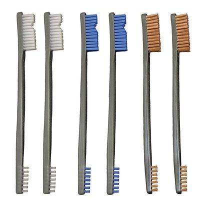 OTIS Technology Brushes 9 Pack 3 Nylon/3 Blue Nylon/3 Bronze