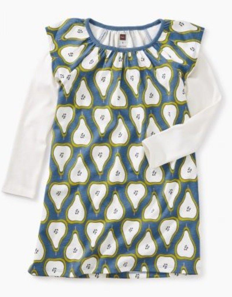 Tea Collection Tea Layered Flutter Dress - Pear