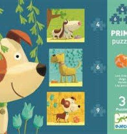 Djeco Djeco Primo 3 Puzzles Dogs
