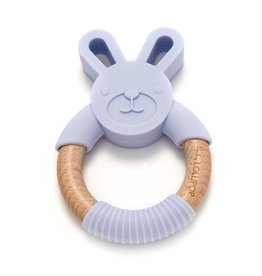 Loulou Lollipop LouLou Lollipop Bunny Silicone Wood Teether