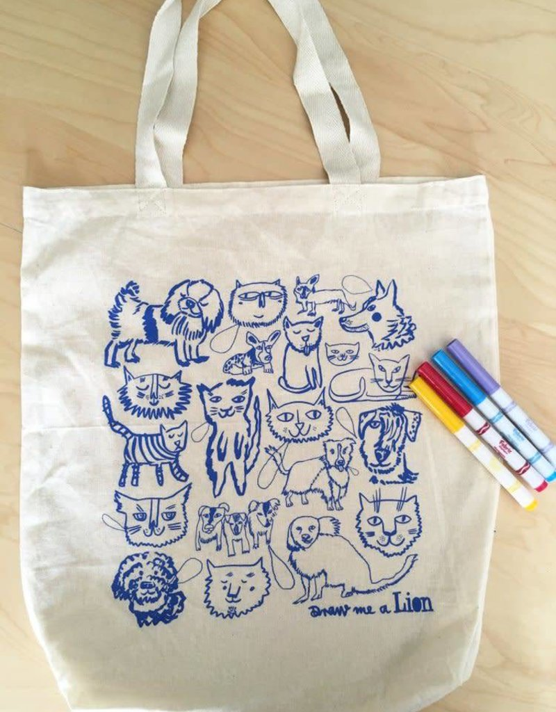 Draw Me A Lion Draw Me A Lion Colour Me Tote Bag