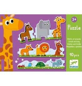Djeco Djeco Puzzle Small & Big 10pce 3+