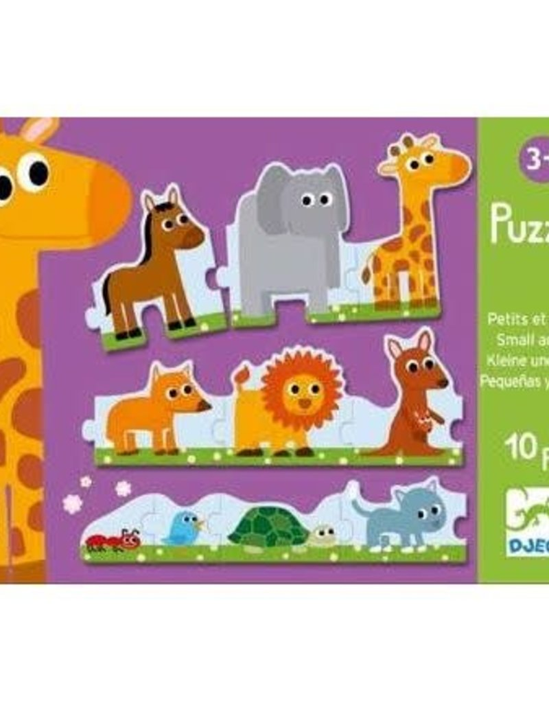 Djeco Djeco Puzzle Small & Big 10pce 3+