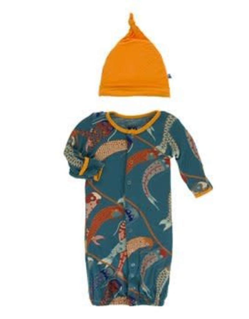Kickee Pants Kickee Converter & Knot Hat - Boy