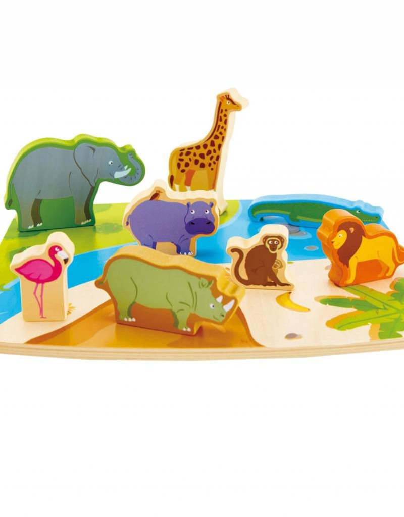 Hape Hape Wild Animal Puzzle & Play