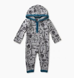 Tea Collection Tea Hoodie Romper Bears