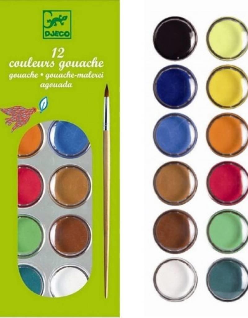 Djeco Djeco 12 Colour Cakes - Classic